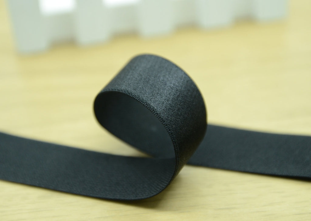 1 inch 25mm Wide Satin Finishing Stretch Soft Waistband Elastic Band