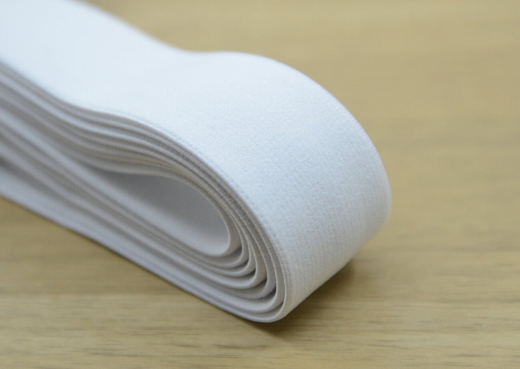 1.5 inch (38mm) White Plush Elastic ,1 1/4 inch(30mm) Soft Elastic Band, Waistband Elastic,Sewing Elastic