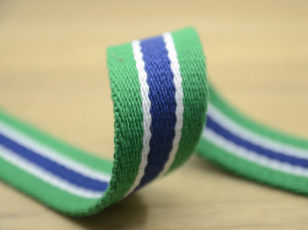 Heavy Duty Cotton Webbing, 1 3/8 inch 35mm wide Cotton Webbing ,Striped Cotton webbing