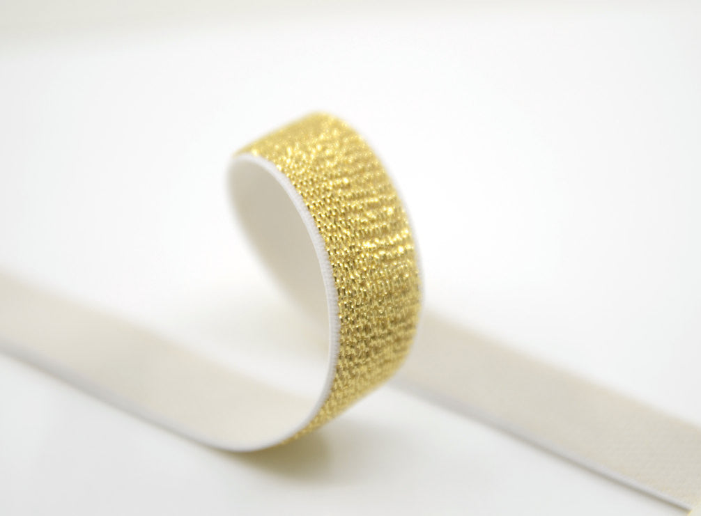 5/8 inch 15mm Silver and Gold Glitter Elastic For Baby Headbands - strapcrafts