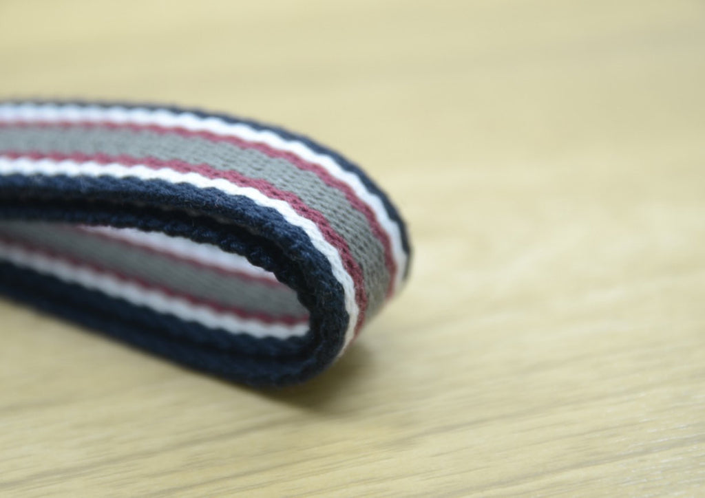 3/4 inch 20mm Multi Striped Cotton webbing, Belt Webbing