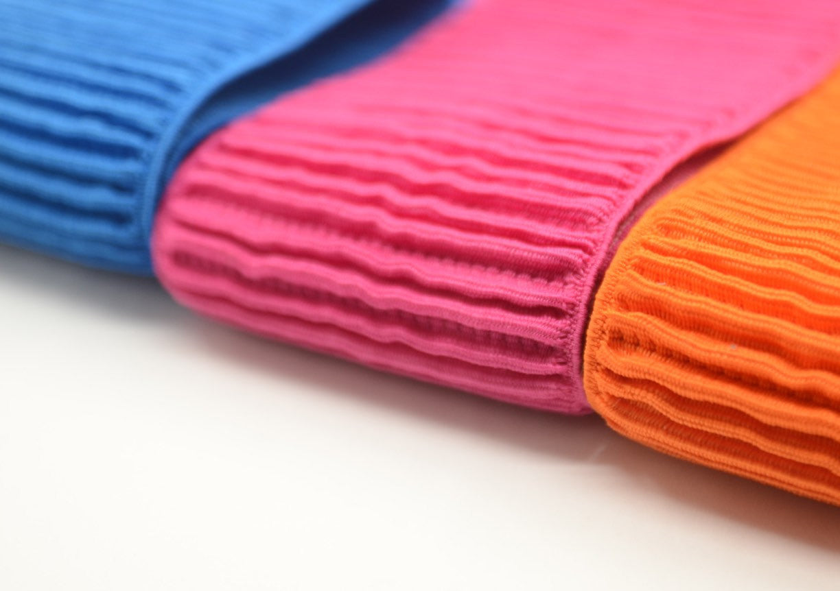 3 inch 75mm Wide Ruffled Elastic, Waistband Elastic,Colored Elastic - strapcrafts