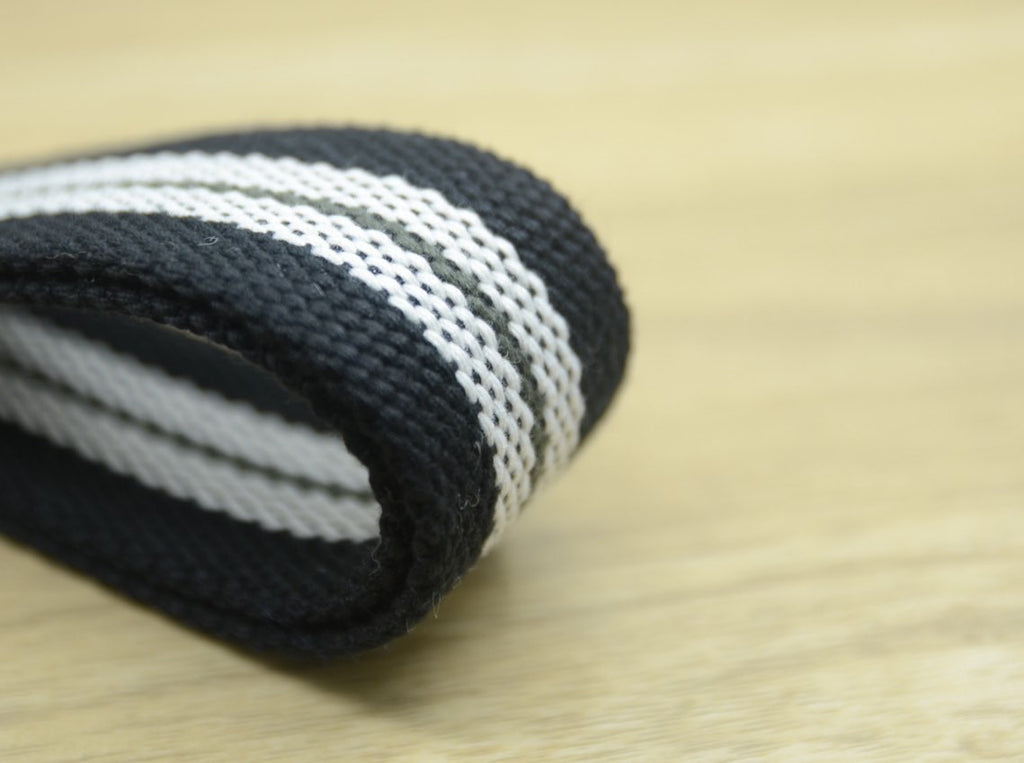 1.5 inch 38mm Striped Cotton Webbing, Heavy Duty Cotton Webbing