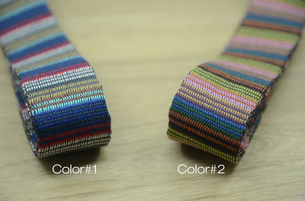 1 1/2 inch 38mm Heavy weight Patterned Cotton webbing