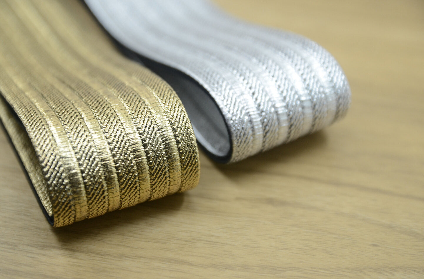 2 Quot 50mm Wide Sparkle Wide Elastic Band Gold And Sivler