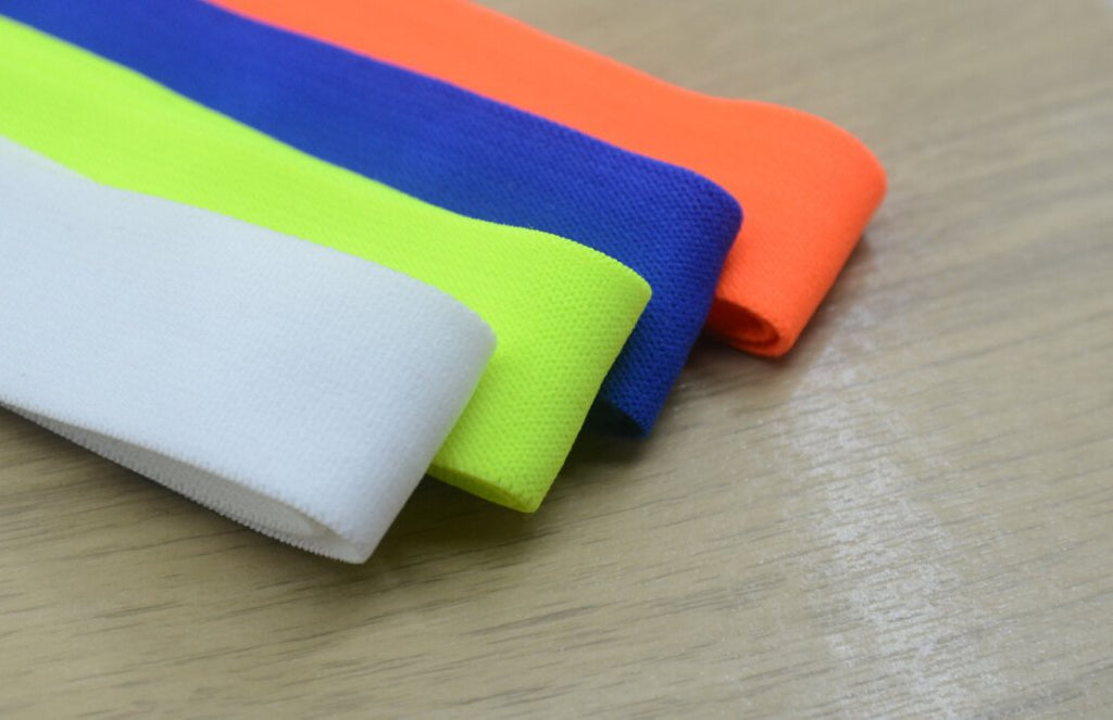1 inch 25mm Wide Colored Comfortable Plush Stretch Elastic Band For Waistband and Sewing