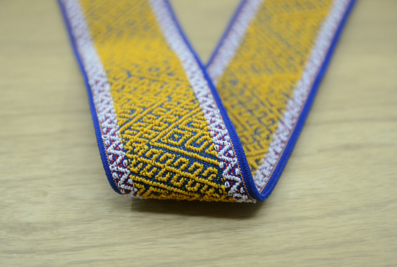 2 inch 50mm Wide Ethnic Jacquard Waistband Band- 1 Yard - strapcrafts