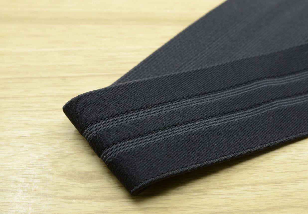 "2"" (50mm) wide Black Striped Plush Elastic,Waistband Elastic,Soft Elastic, Elastic Band,Sewing Elastic By the Yard - strapcrafts"