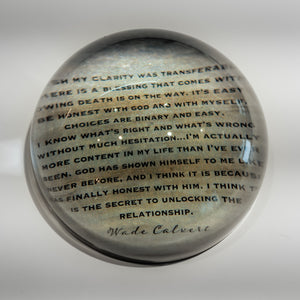 Paperweight: Wade's Words