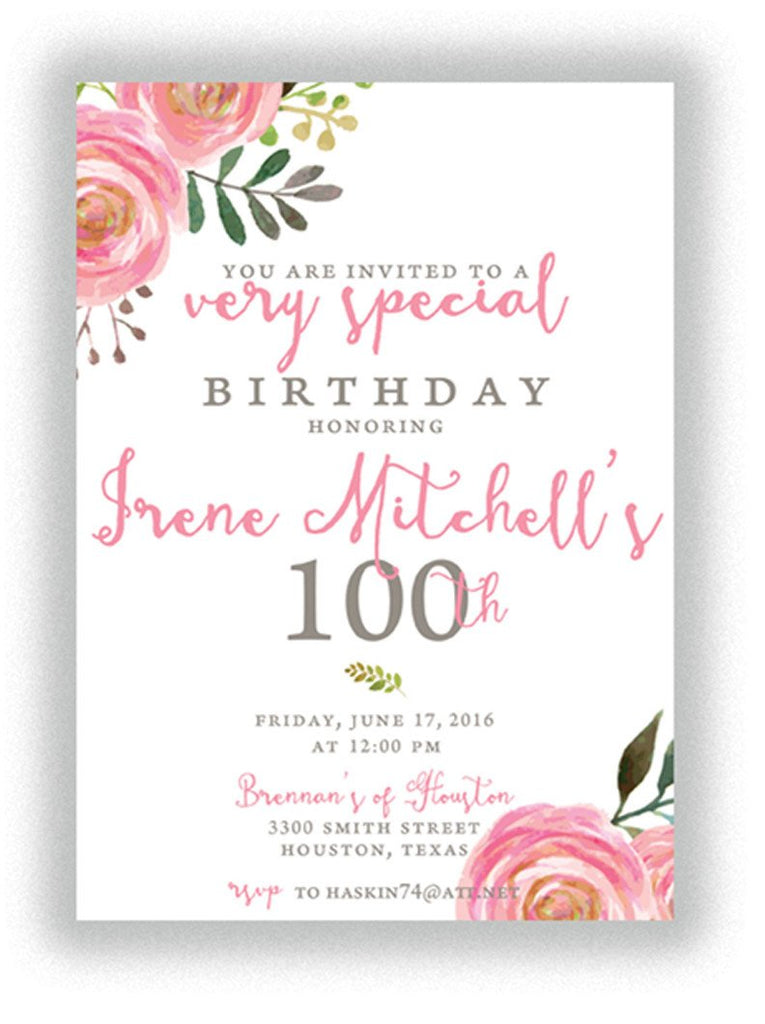 Invitation: Floral Birthday