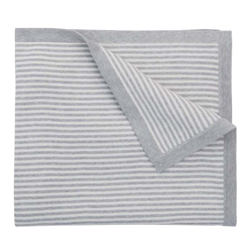 "Elegant Baby - Striped Blanket 30""x 40"" - Gray"