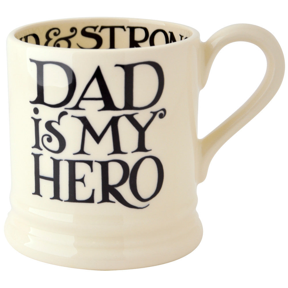 Emma Bridgewater - Seconds Black Toast Father's Day 1/2 Pint Mug
