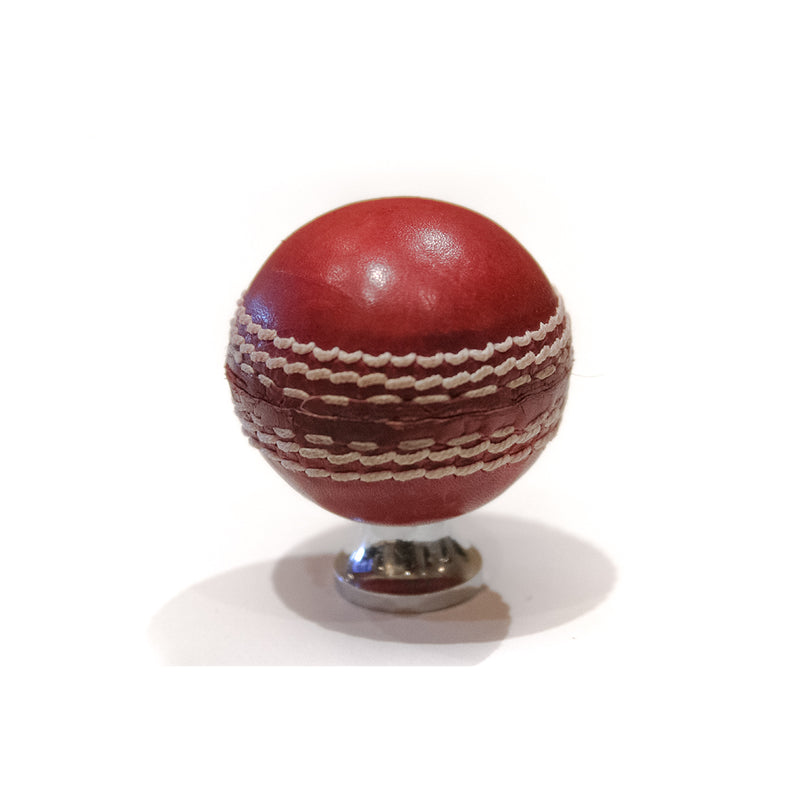 Knobs & Pulls - Red Cricket Ball Knob Set of 2