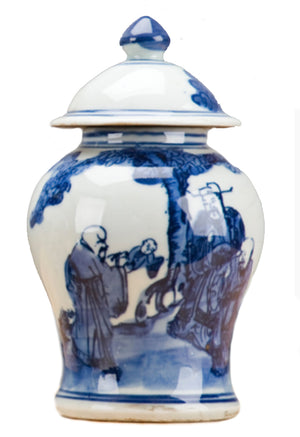 Classic Porcelain - BLUE AND WHITE LIDDED JAR