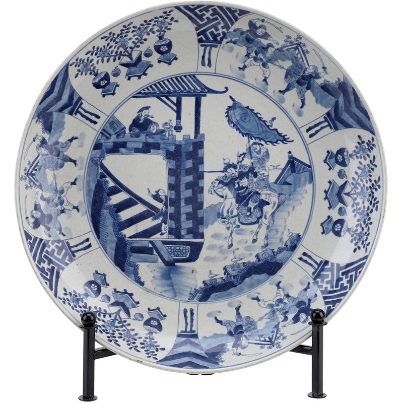 CLASSIC PORCELAIN - Blue and White Round Platter
