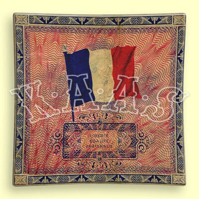 Kaas Glasswork 6x6 French Flag Decoupage Plate