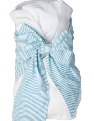 EllieO - Baby Swaddle - Blue Seersucker