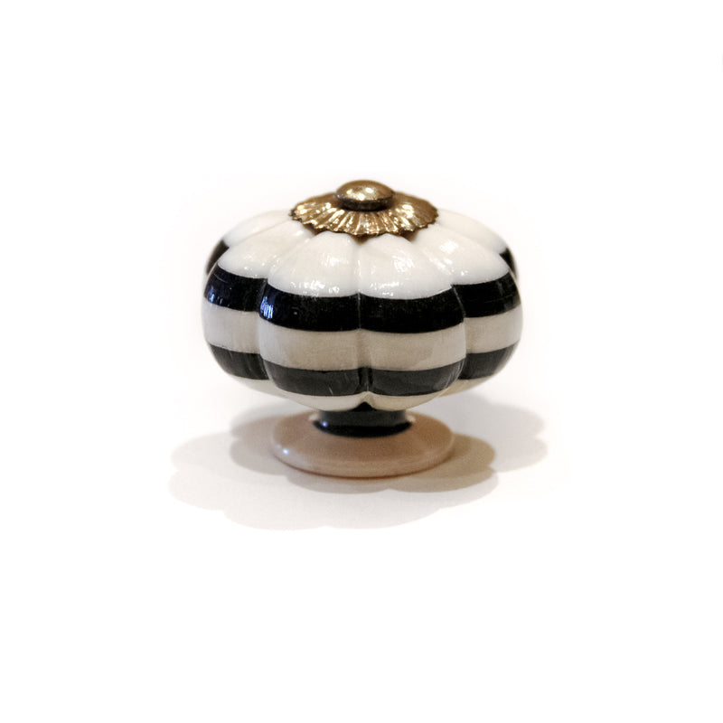 Knobs & Pulls - Porcelain Bone Pumpkin Knob Set of 2