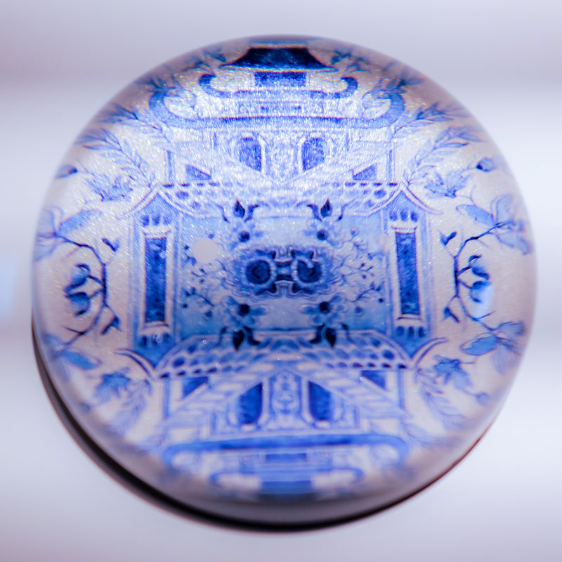 Paperweight: Blue and White Chinoiserie
