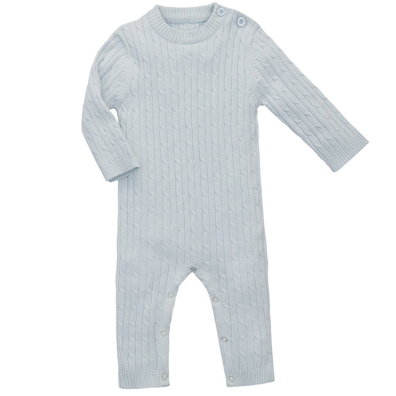 Elegant Baby - Cable Knit Jumpsuit Blue