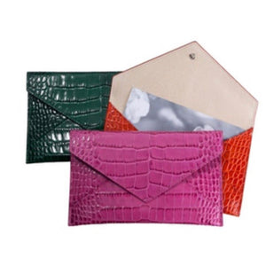 Graphic Image Alligator Embossed Leather Envelopes