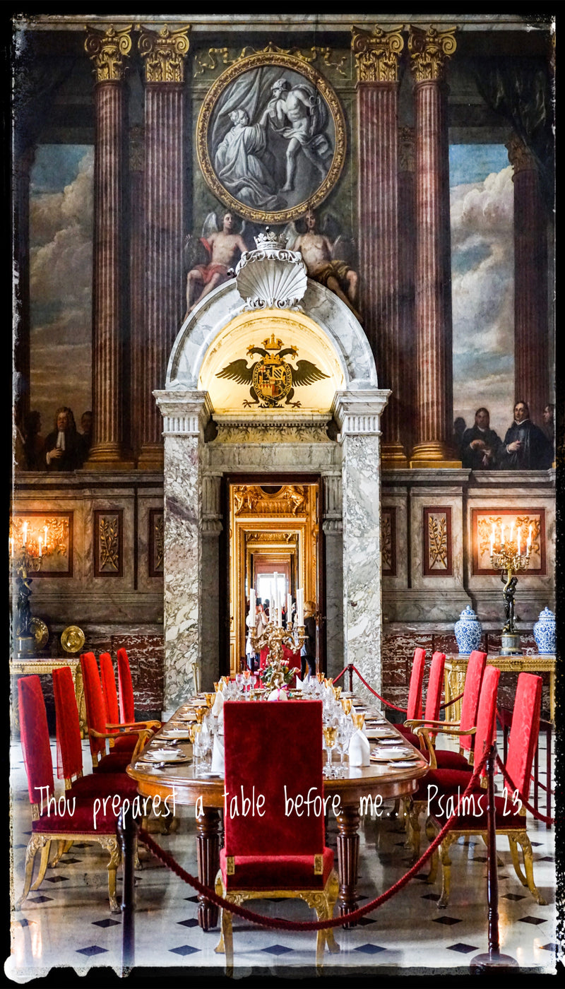 Blenheim Castle: He prepares a table