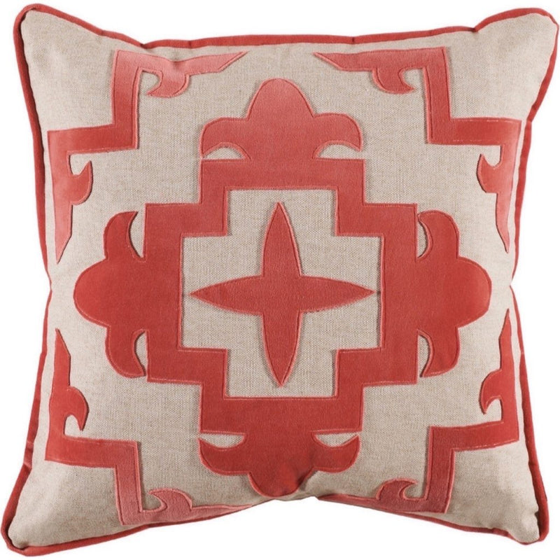 Lacefield Designs - Sultana Velvet Pillow - Coral