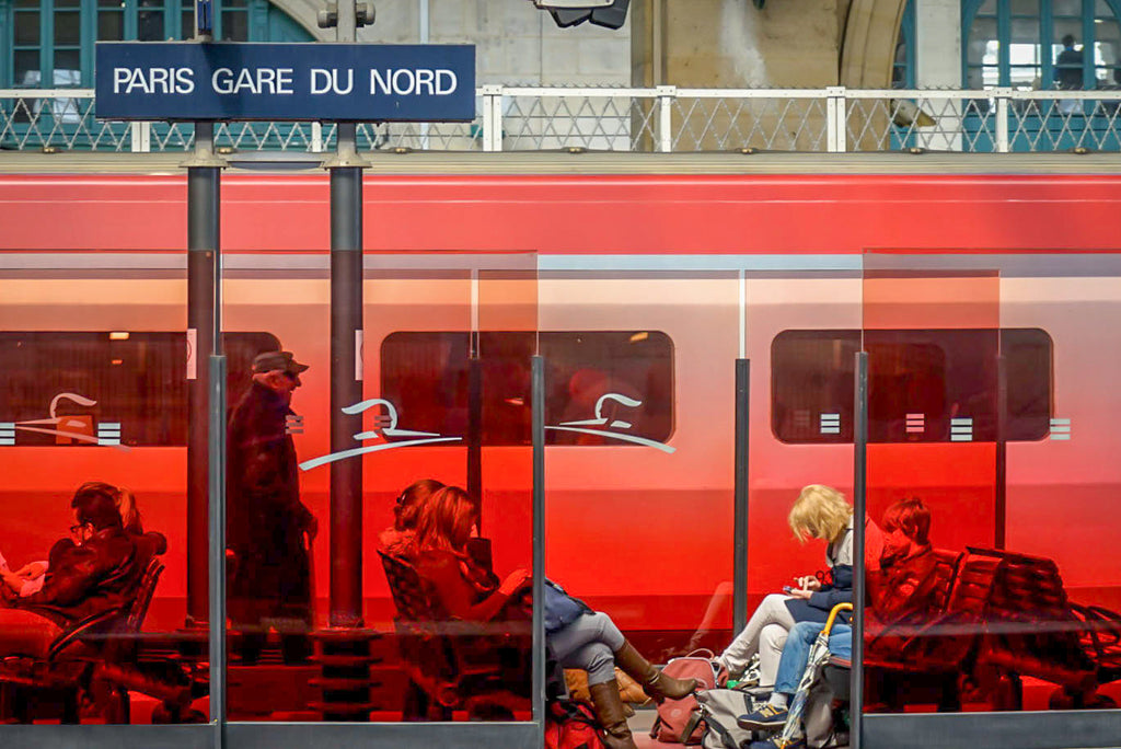 PARIS GARE DU NORD Tryptich