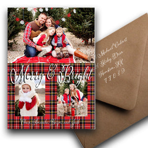 "Merry and Bright: 7x5""with Brown Kraft Envelope"