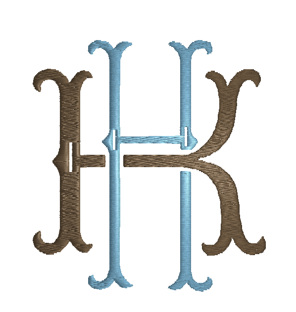 DIGITIZED MONOGRAMS -  HK Monogram