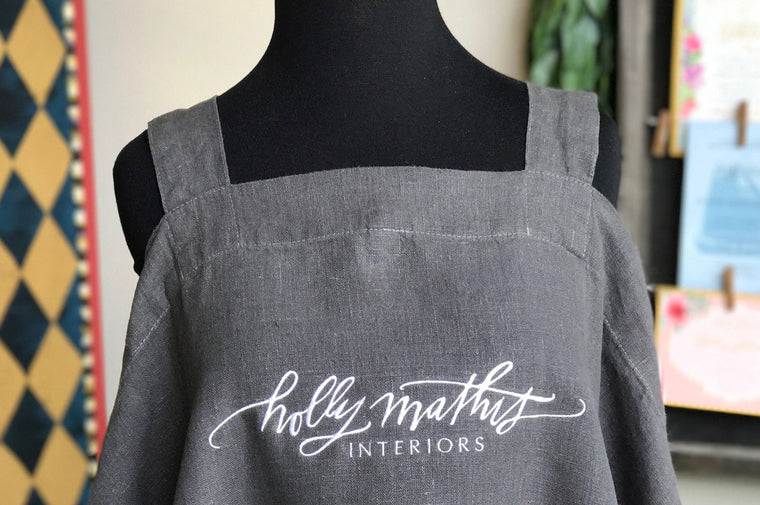 A Custom Design  Linen Apron
