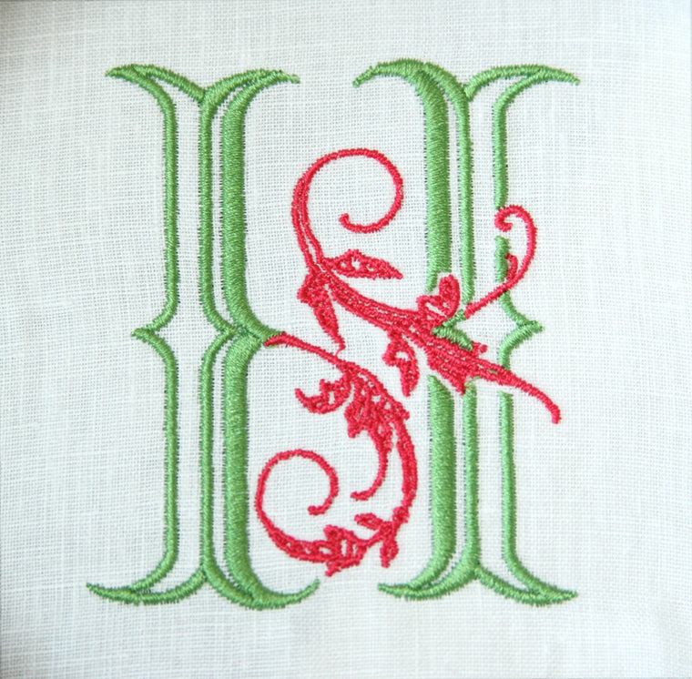 Bobbin Designs H Monogram Digitized