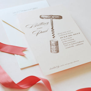 INVITATION: REHEARSAL DINNER CORK