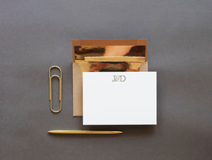 Stationery: Monogram Cards - Letterpress Printed