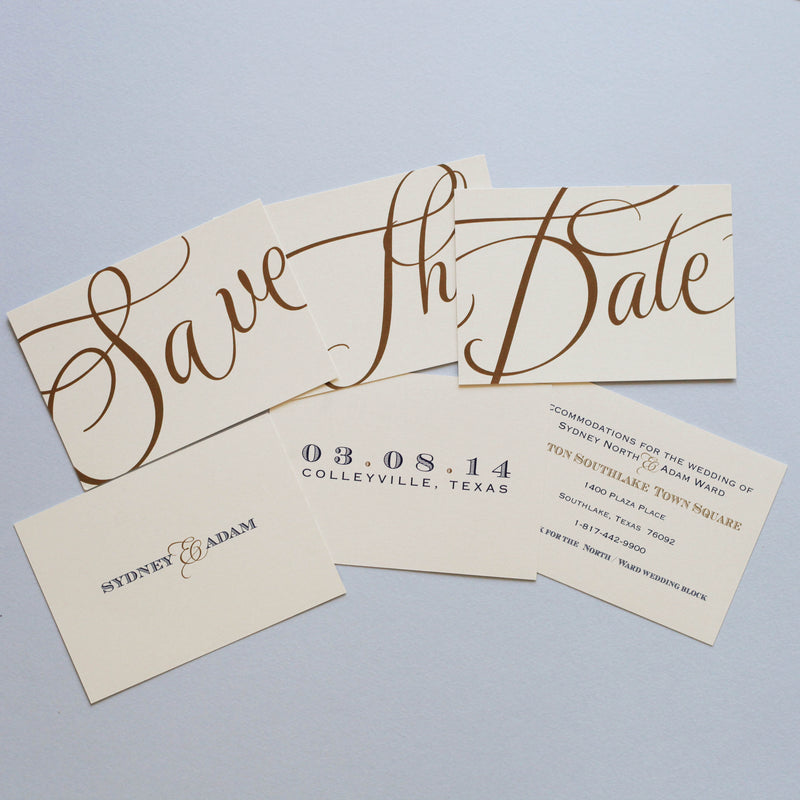 Save the Date: Trio Cards