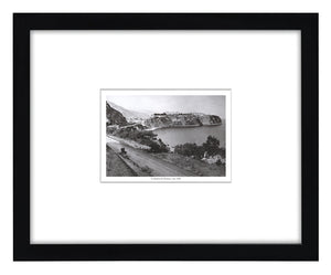 Framed Antique Reproduction South of France Le Rocher de Monaco