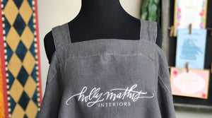 Monograms - Wrap Around Linen Apron