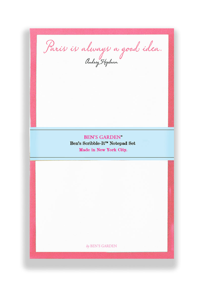 Ben's Garden - Paris Is Always A Good Idea Notepads Set of 2