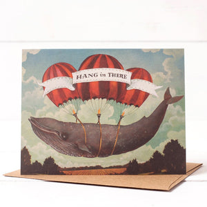 Hester & Cook: GREETING CARD HANG IN THERE WHALE