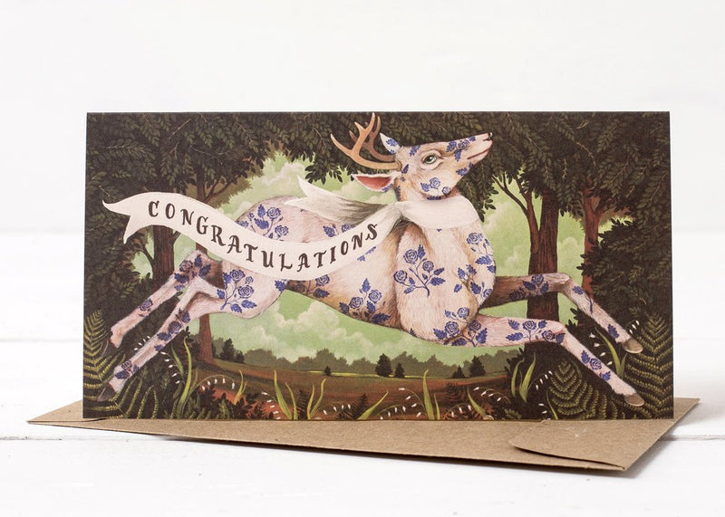Hester & Cook: GREETING CARD CONGRATUALTIONS DEER