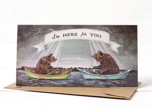 Hester & Cook: GREETING CARD I'M HERE FOR YOU BOATS