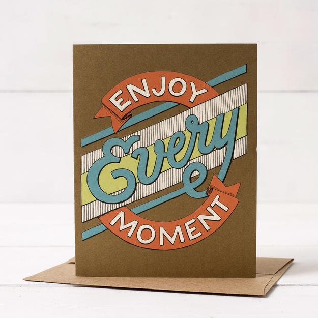 Hester & Cook: GREETING CARD ENJOY EVERY MOMENT