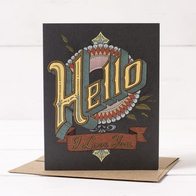 Hester & Cook: GREETING CARD HELLO, I LOVE YOU