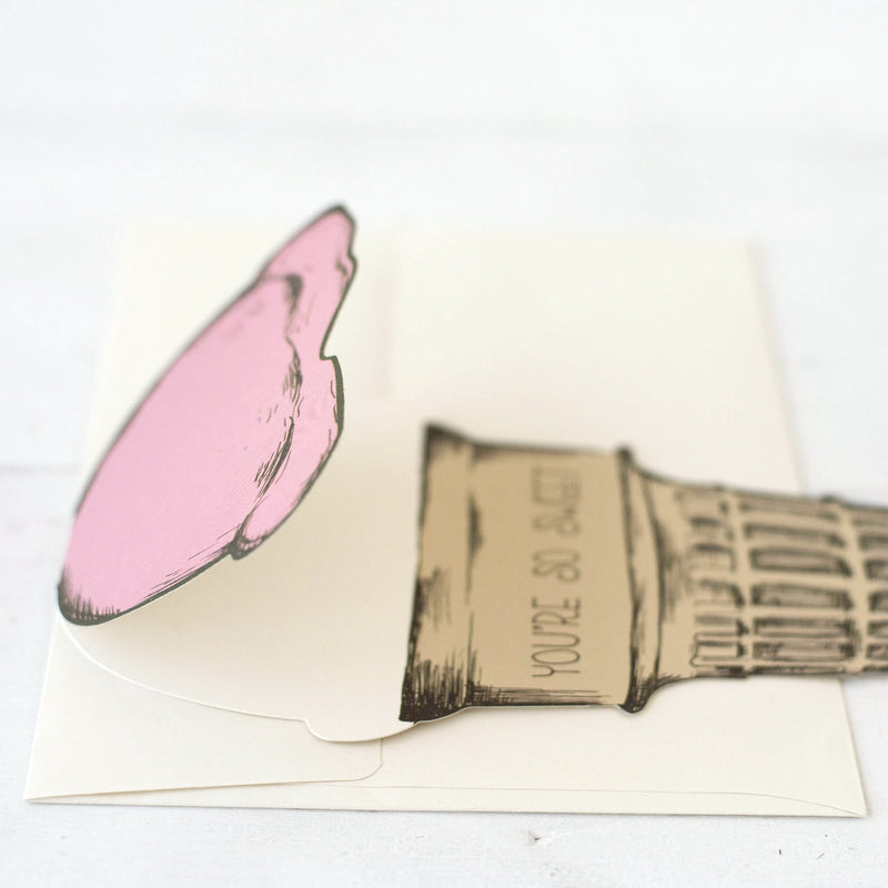 Hester & Cook: GREETING CARD ICE CREAM CONE