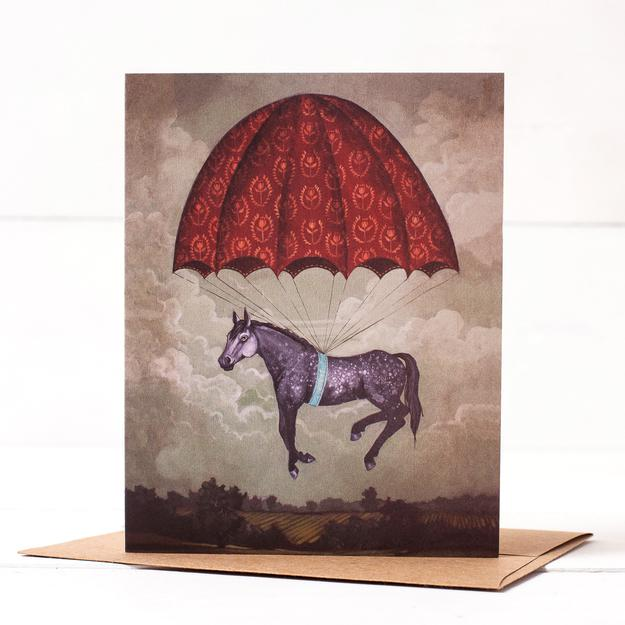 Hester & Cook: GREETING CARD PARACHUTE PONY