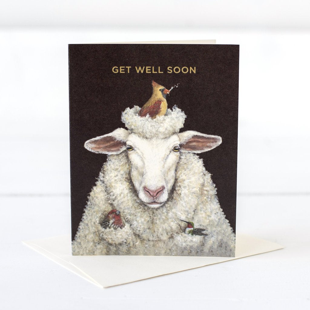 **NEW** Hester & Cook - GREETING CARD GET WELL SHEEP