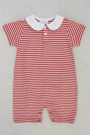 Little English - Peter Pan Romper Red