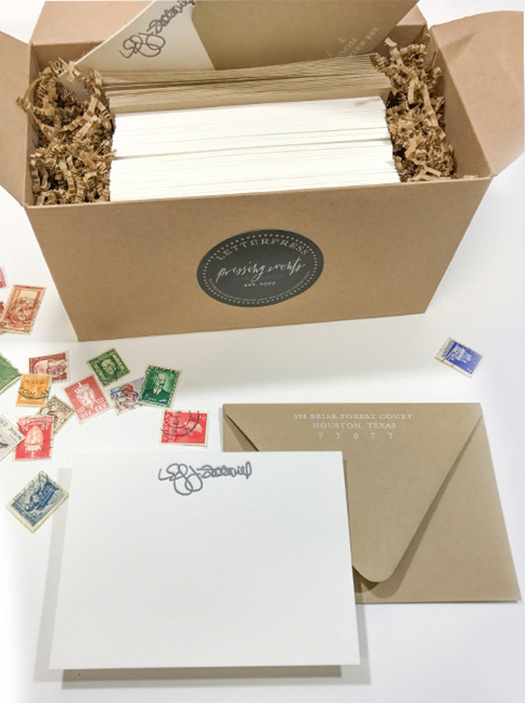 Personalized Signature Letterpress Stationery