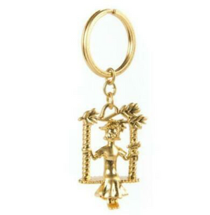 Mackenzie Childs Mrs. Powers Key Ring