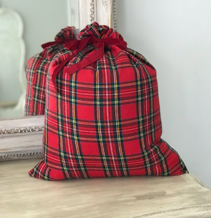Plaid Gift Bag